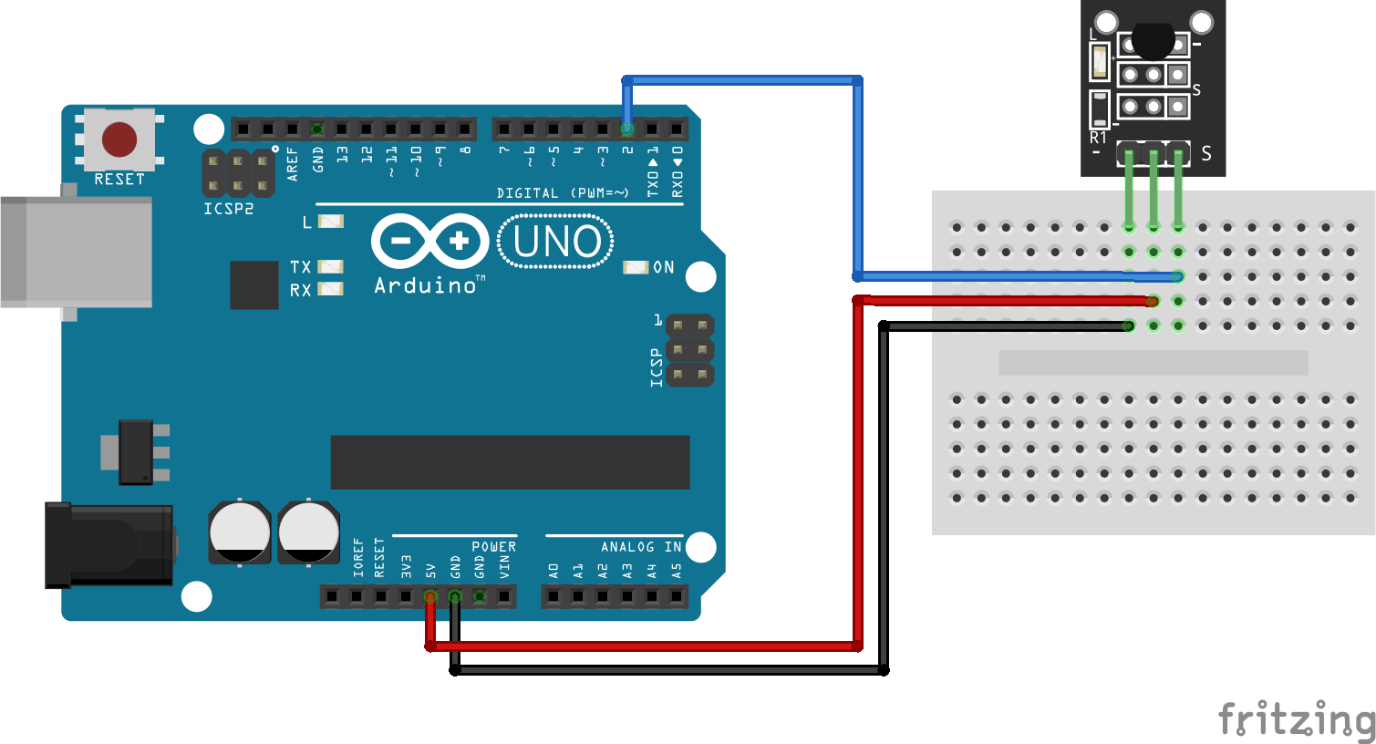 Arduino KY-001 connection diagram