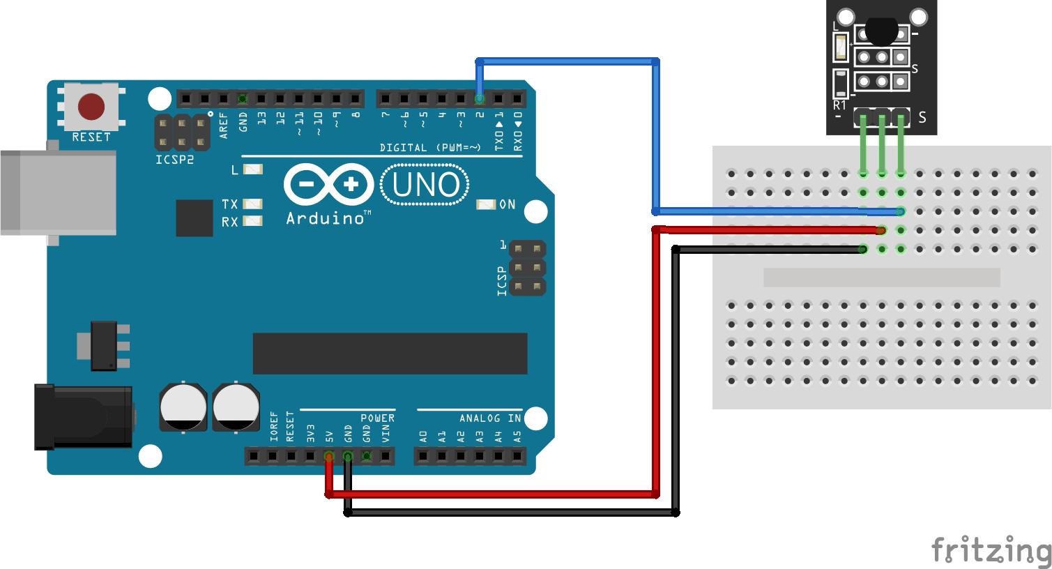 Arduino KY-001 connection diagram