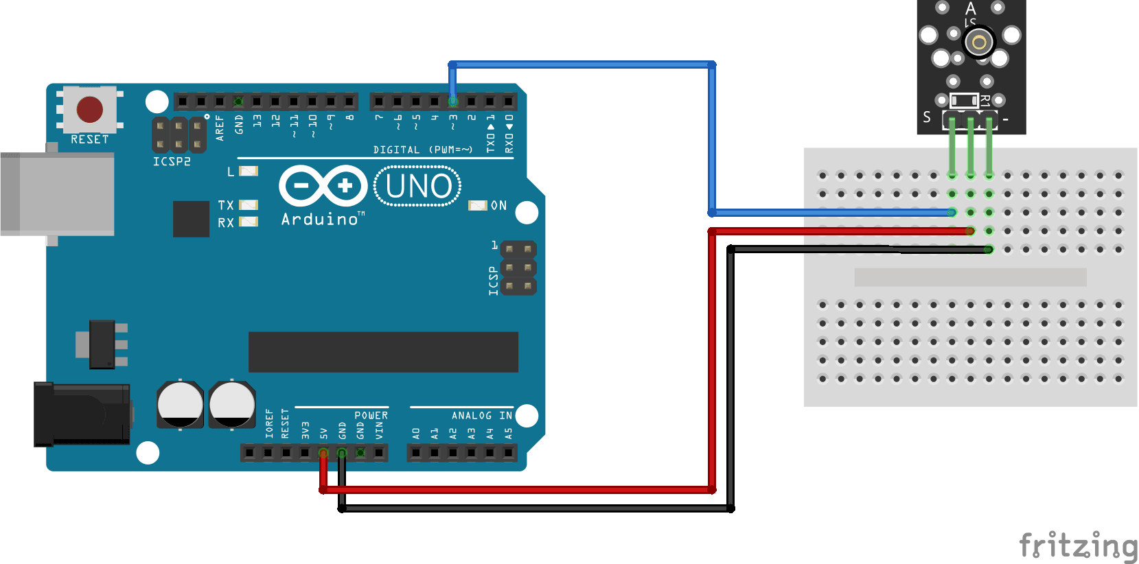 Arduino KY-002 connection diagram