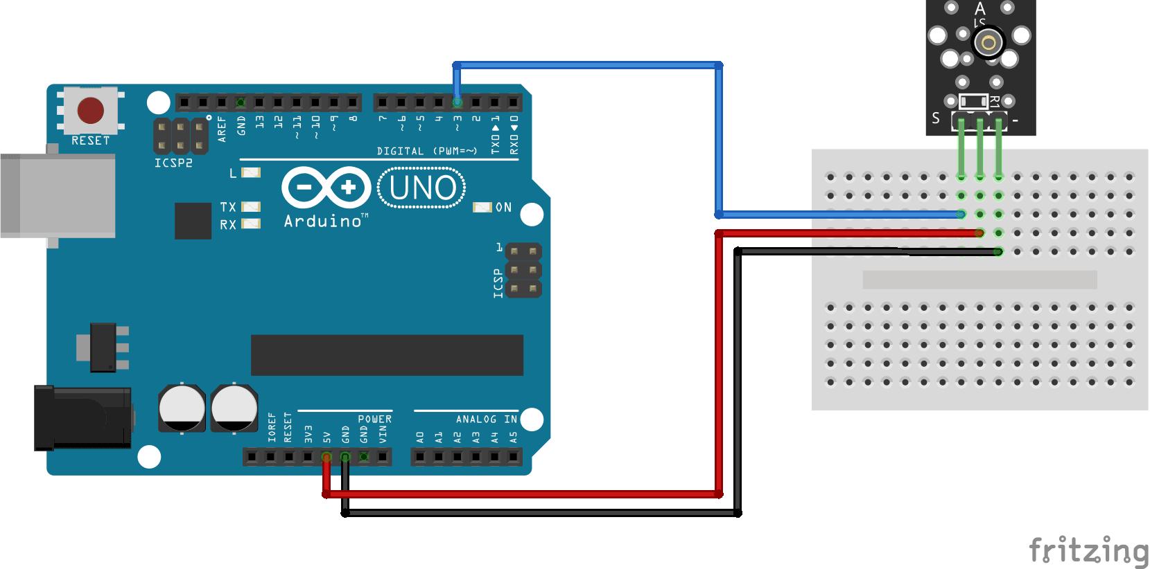 Arduino KY-002 connection diagram