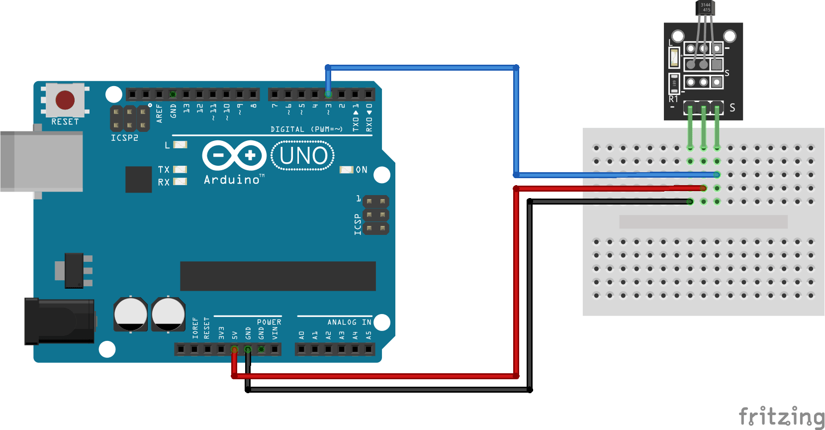 Arduino KY-003 connection diagram