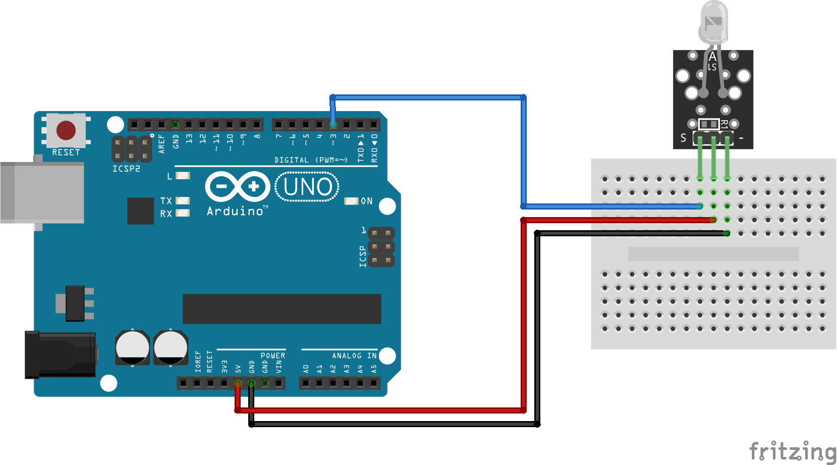 Arduino KY-005 connection diagram