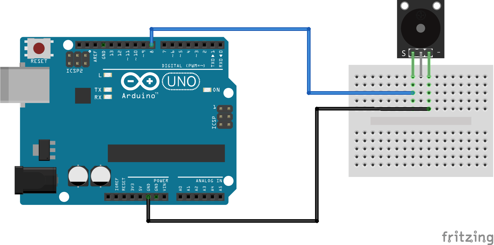 Arduino KY-006 connection diagram