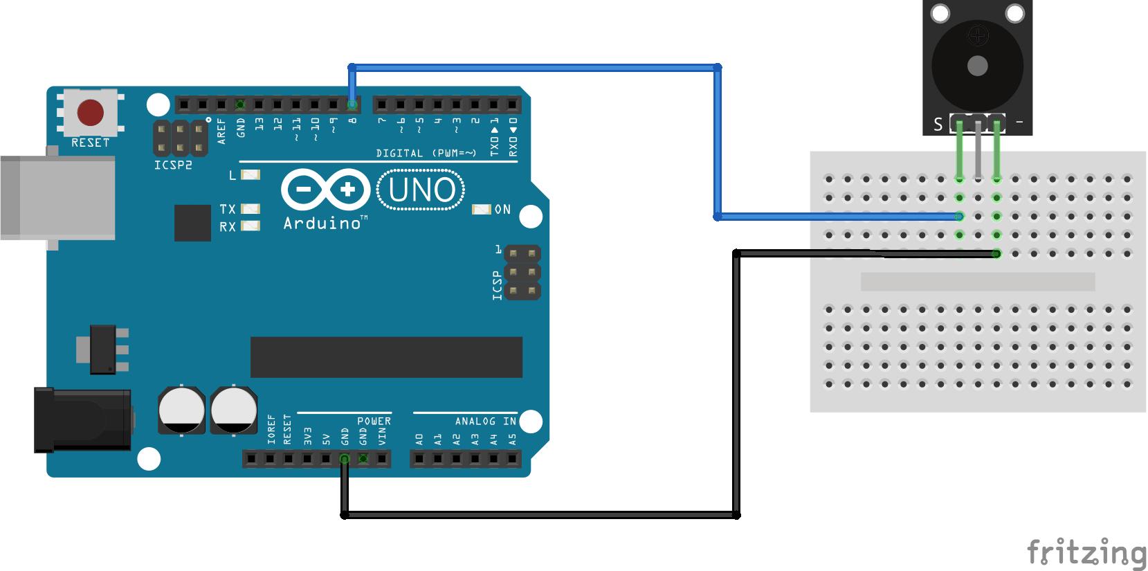 Arduino KY-006 connection diagram