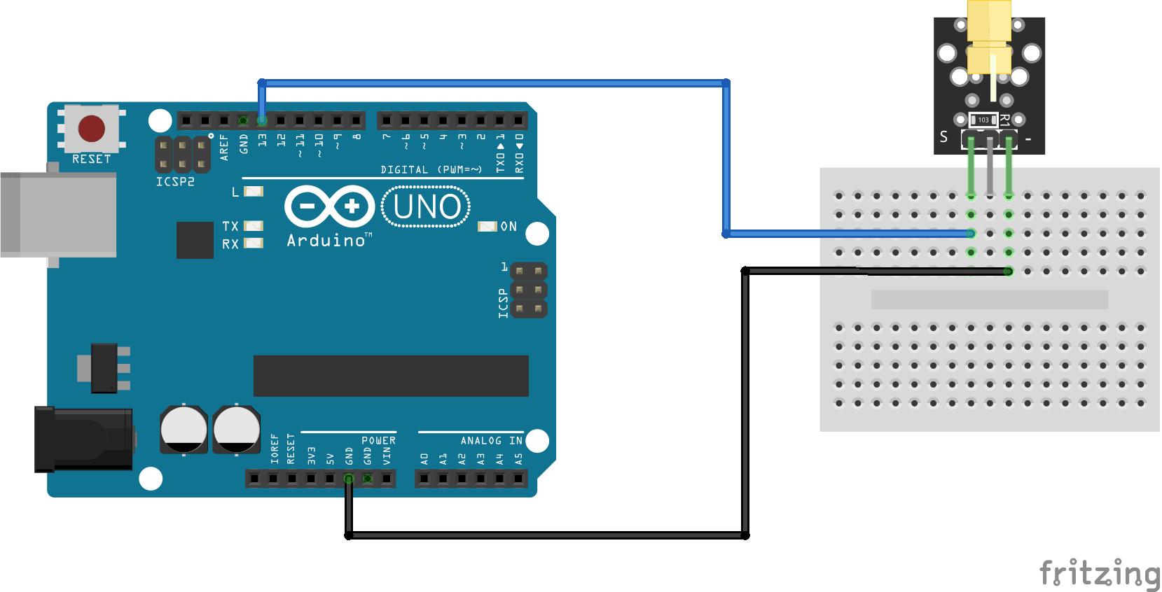 Arduino KY-008 connection diagram