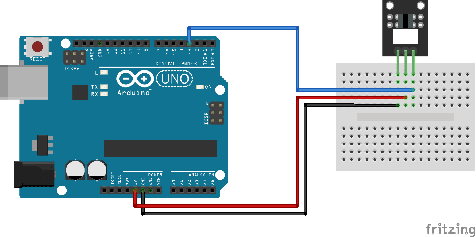 Arduino KY-010 connection diagram