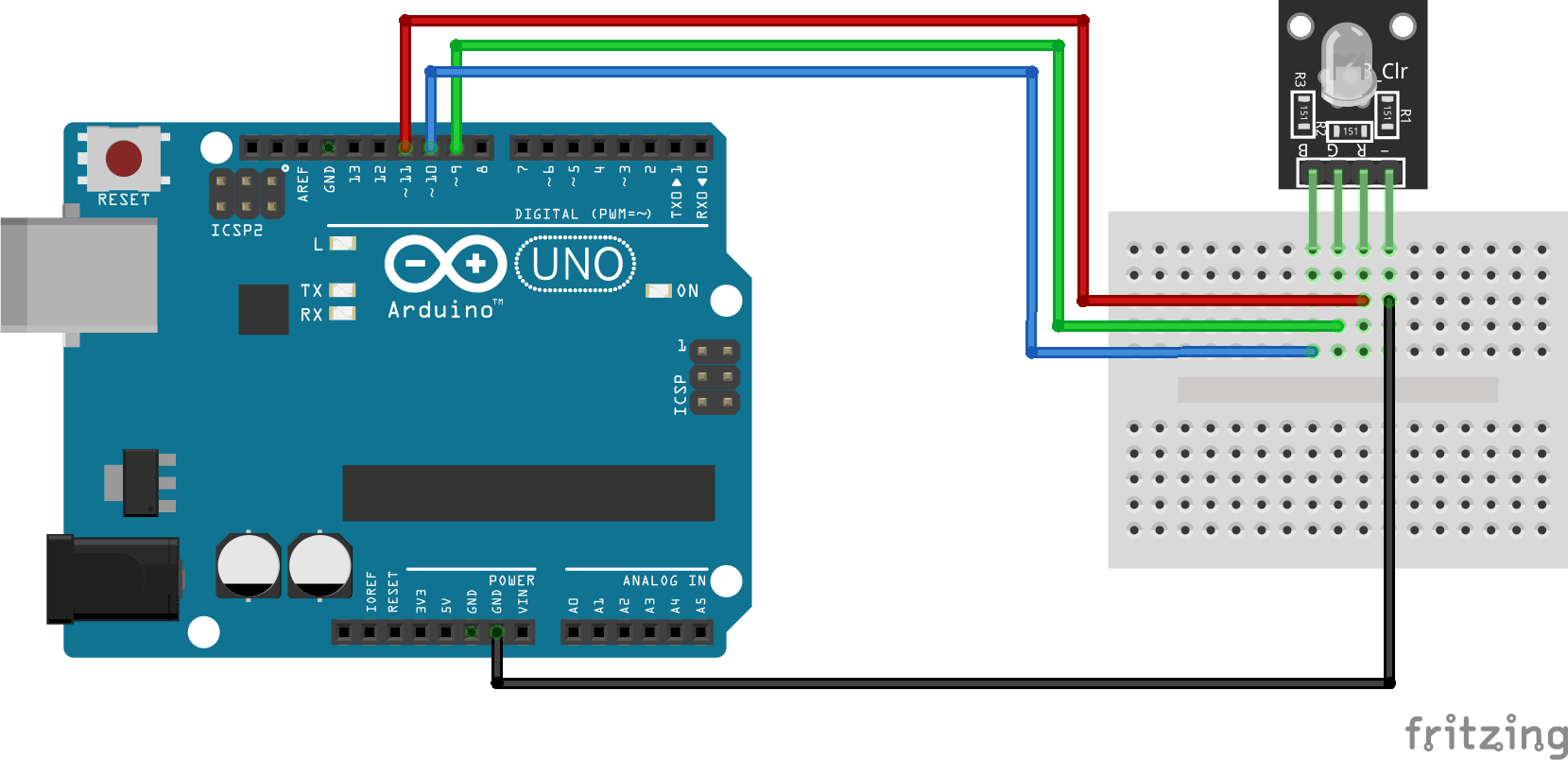 KY-016 Arduino connection diagram