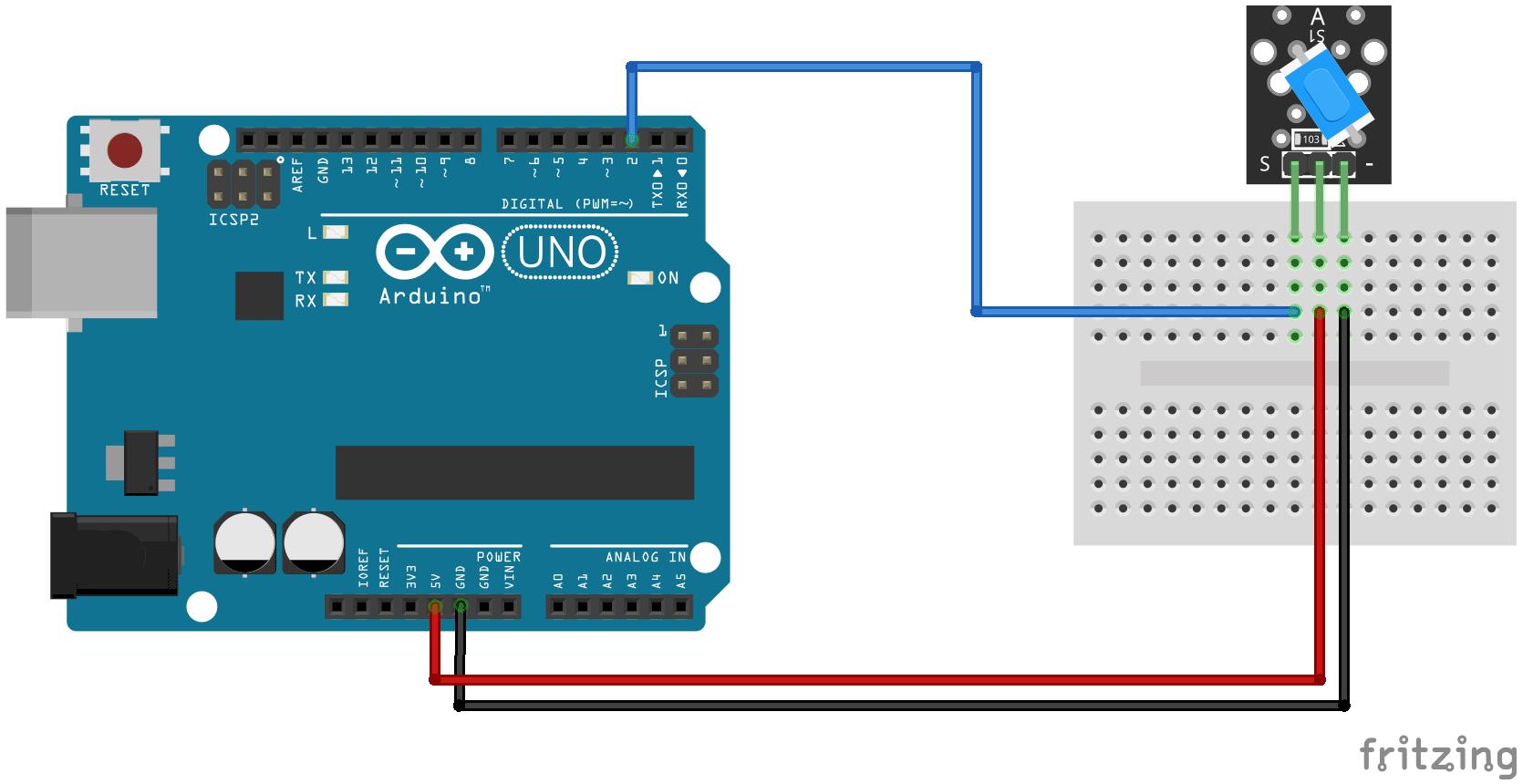 KY-020 Diagrama de conexión del interruptor de inclinación