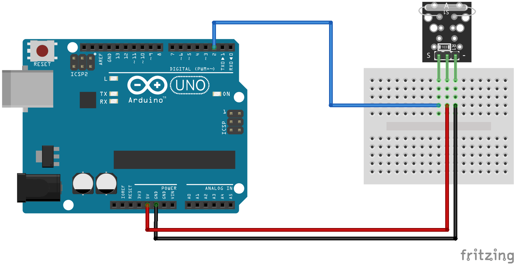 KY-021 Arduino Connection diagram