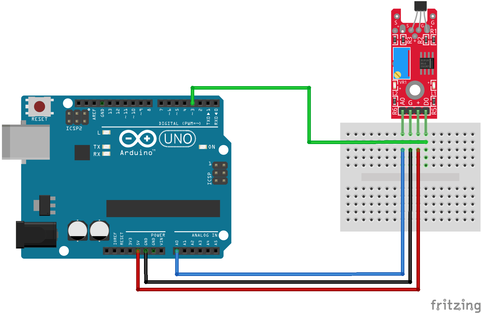 KY-024 Arduino connection diagram