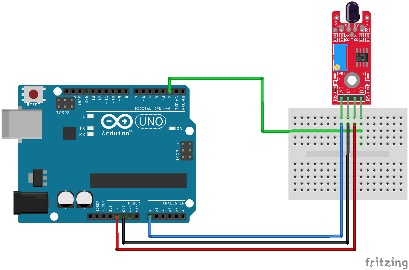 Arduino KY-026 connection diagram